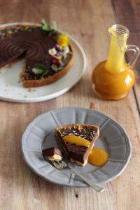tarte choco fleurs mangue pistache2